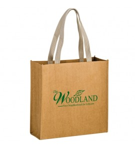 TIDAL WAVE - WASHABLE KRAFT PAPER TOTE BAG WITH WEB HANDLE
