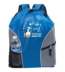 210D POLYESTER BACKPACK WITH ADJUSTABLE STRAPS