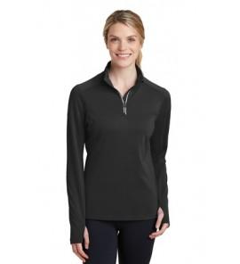 Sport-Tek Ladies Sport-Wick Textured 1/4-Zip Pullover