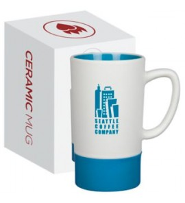 MONUMENT 16 oz Ceramic Mug with Silicone Accent