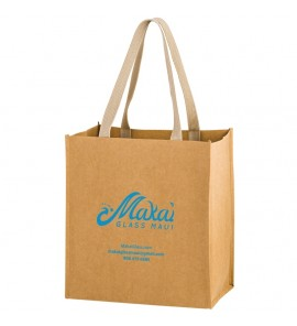 TSUNAMI - WASHABLE KRAFT PAPER GROCERY TOTE BAG WITH WEB HANDLE