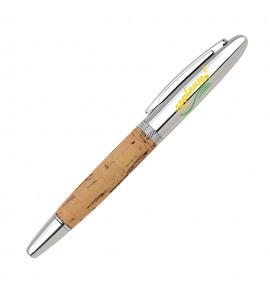 Cork Rollerball pen-Silver