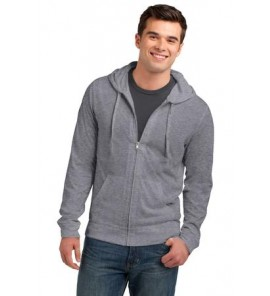 District Young Mens Lightweight Jersey Full-Zip Hoodie