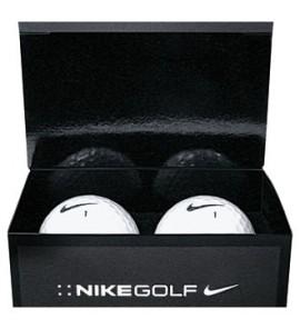 NIKE 2-BALL BUSINESS CARD BOX w/ POWER LONG BALLS