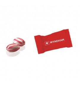 Individually Wrapped Red Striped Peppermint Megamint